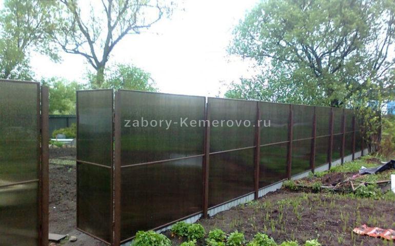 изготовление заборов из поликарбоната в Кемерово