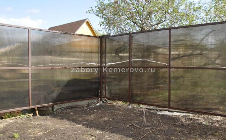 забор из поликарбоната в Кемерово