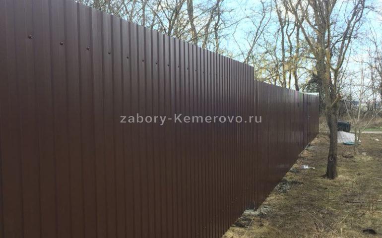 забор из профлиста в Кемерово